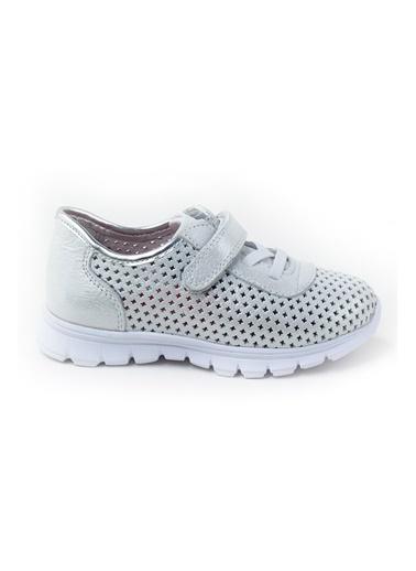 minipicco Minipicco Unısex Gümüş Deri Ortopedik Destekli Spor Ayakkabı Gümüş